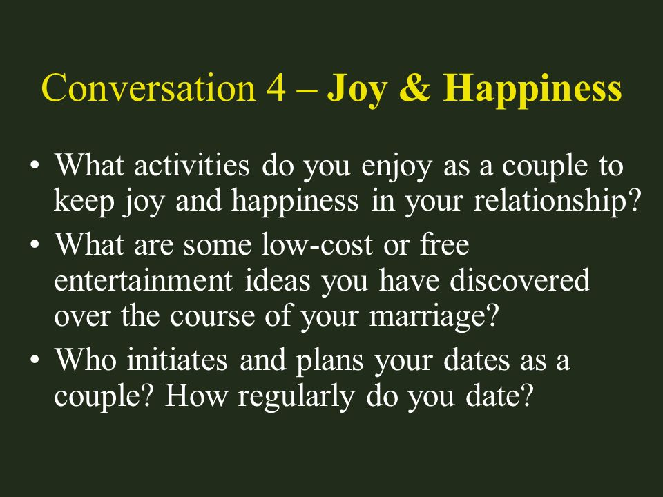 Conversation 4 – Joy & Happiness