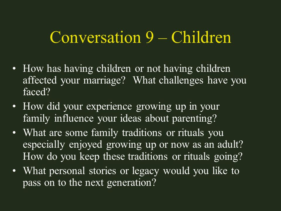 Conversation 9 – Children