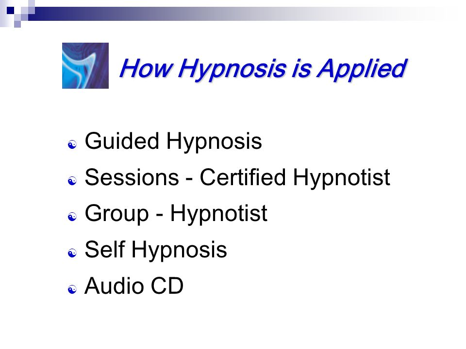 How Hypnosis is Applied