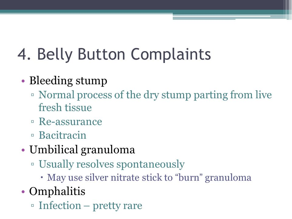 4. Belly Button Complaints