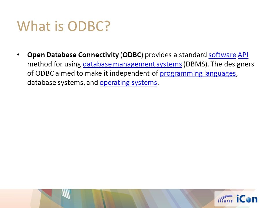 What is ODBC