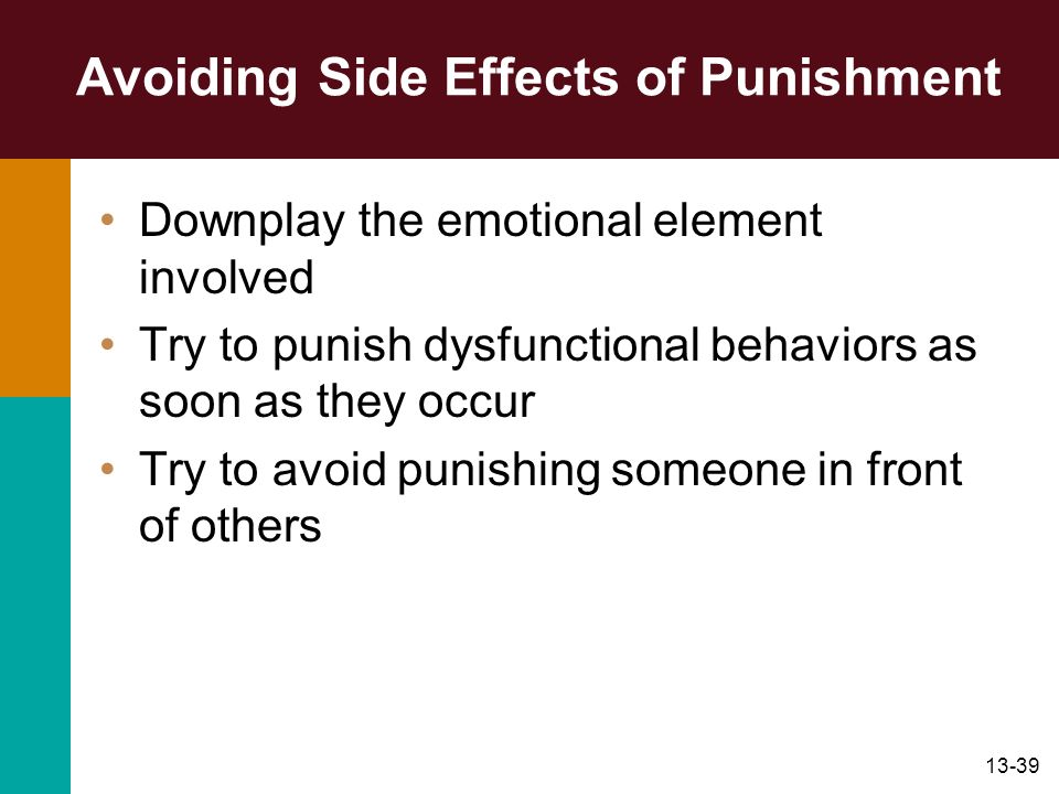 Avoiding Side Effects of Punishment