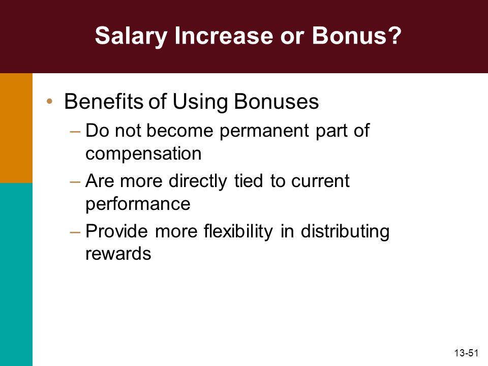 Salary Increase or Bonus
