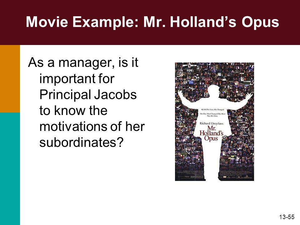 Movie Example: Mr. Holland's Opus
