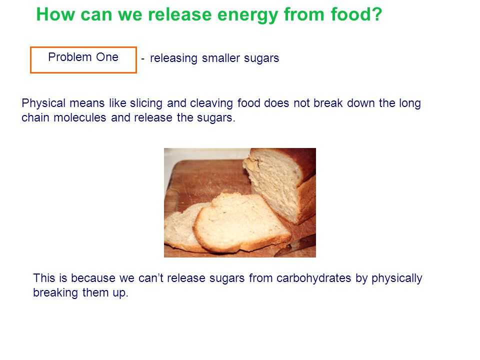 How can we release energy from food