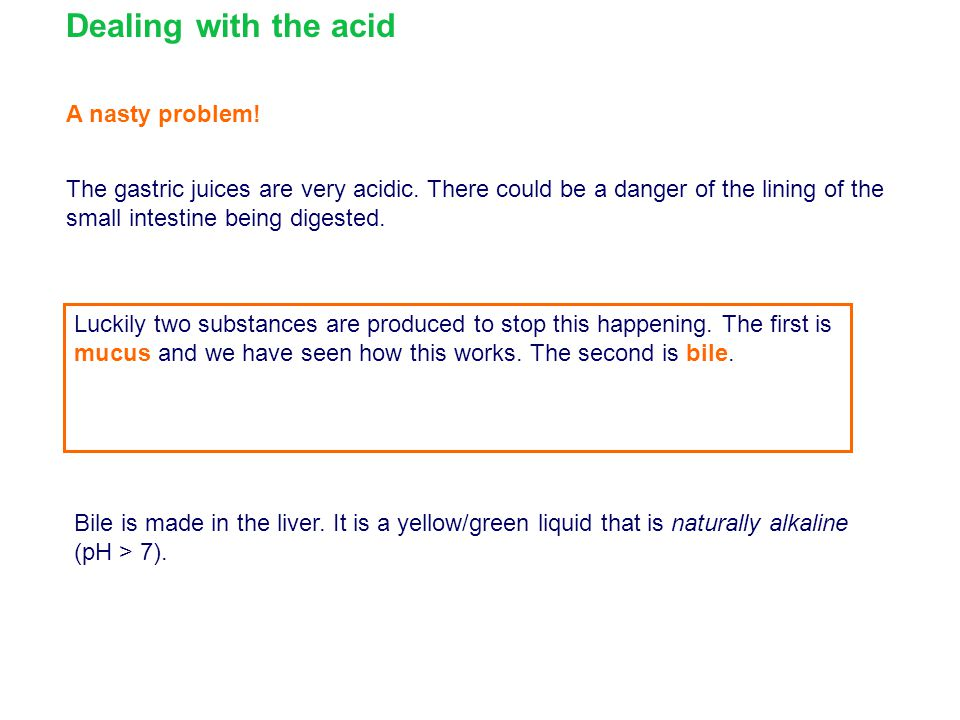 Dealing with the acid A nasty problem!