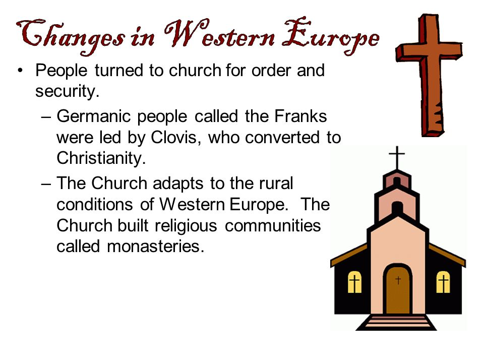 Changes in Western Europe