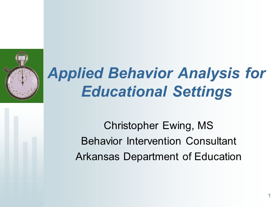 Applied Behavior Analysis For Educational Settings  Ppt Video