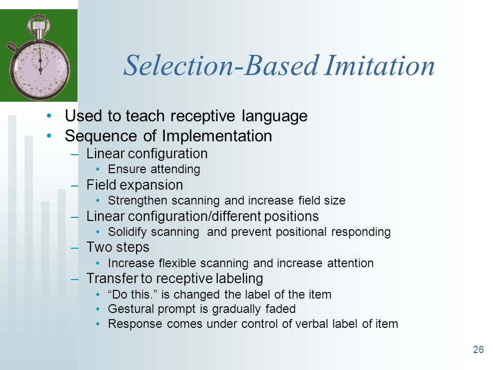 Selection-Based Imitation