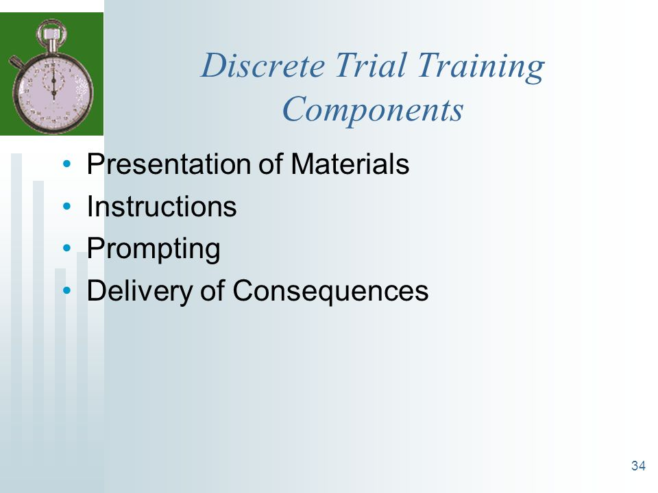 Discrete Trial Training Components