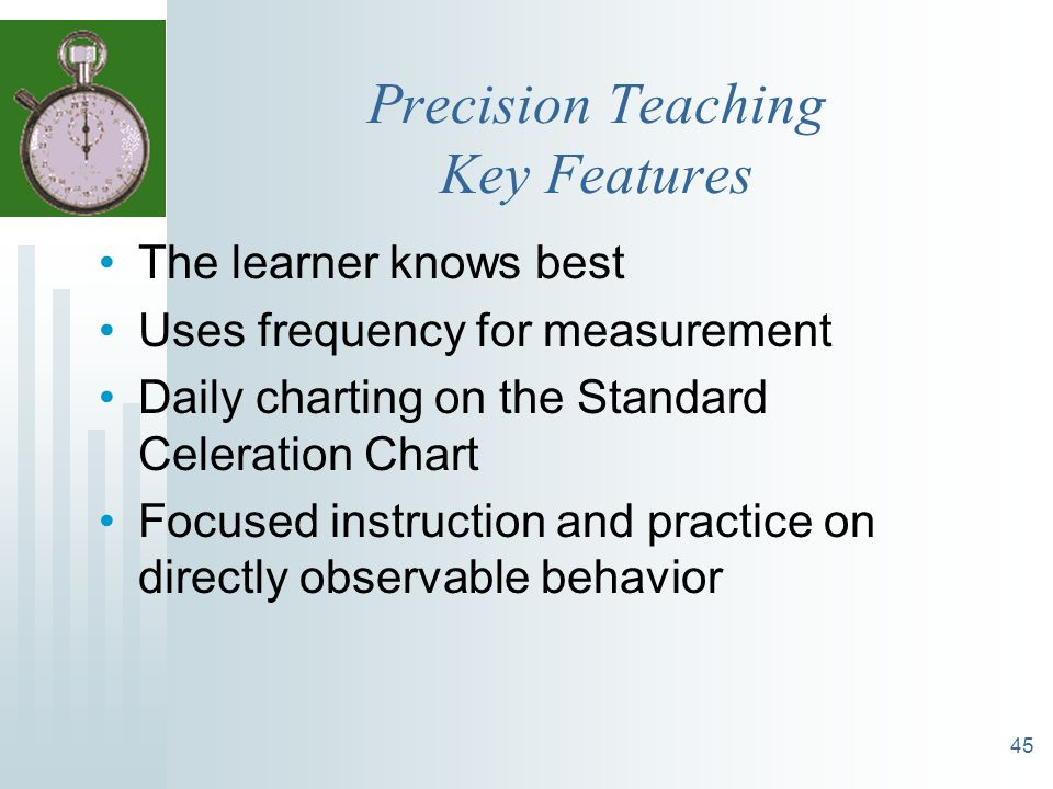 Precision Teaching Key Features