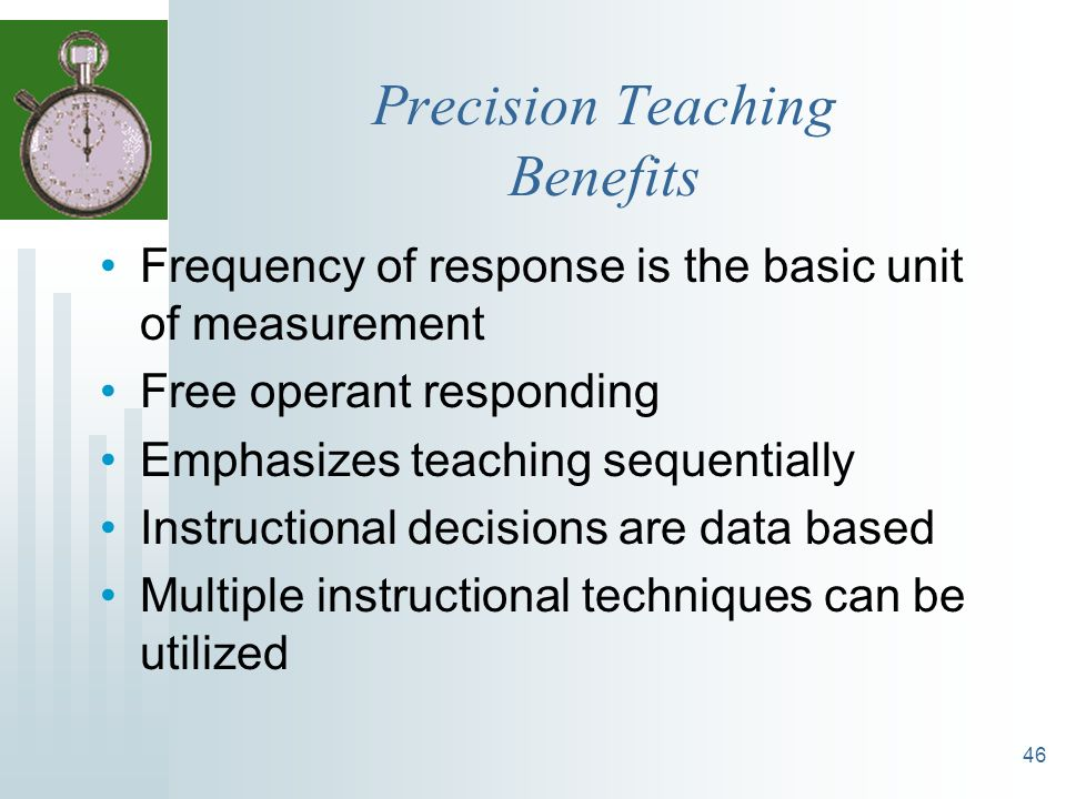 Precision Teaching Benefits