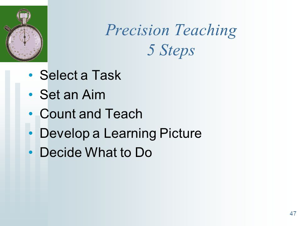 Precision Teaching 5 Steps