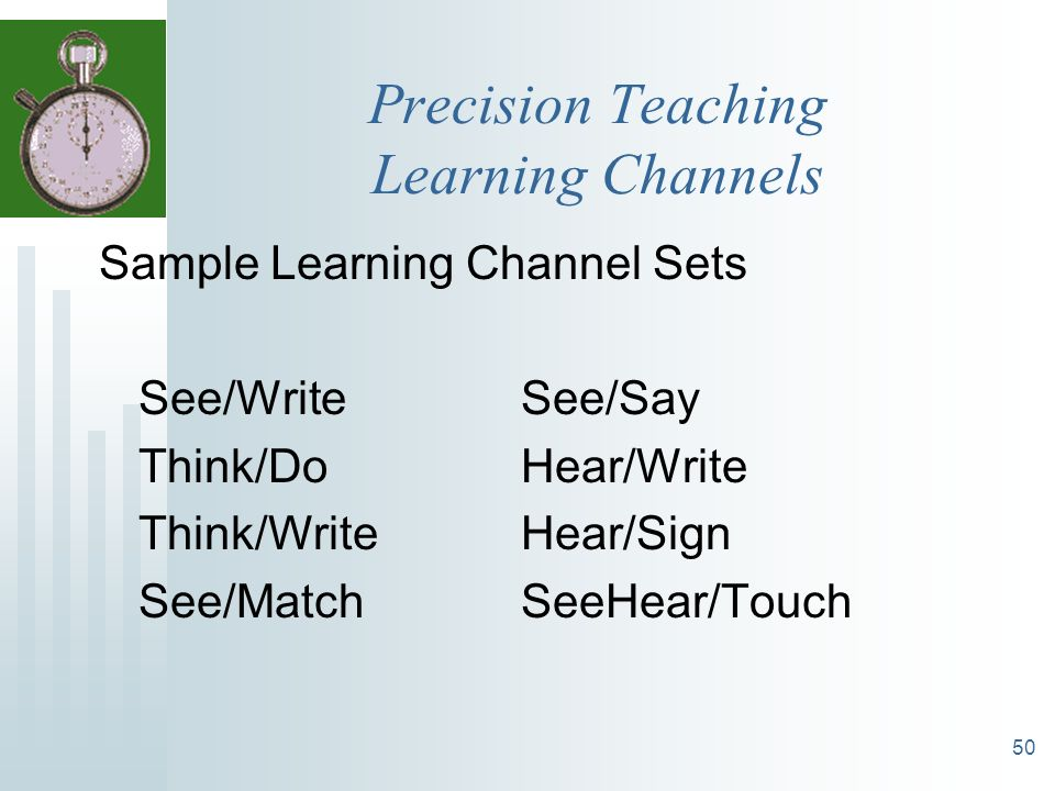 Precision Teaching Learning Channels