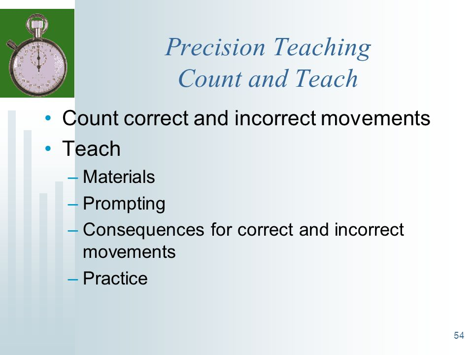 Precision Teaching Count and Teach
