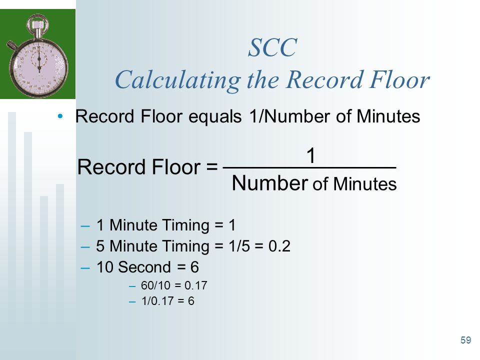SCC Calculating the Record Floor