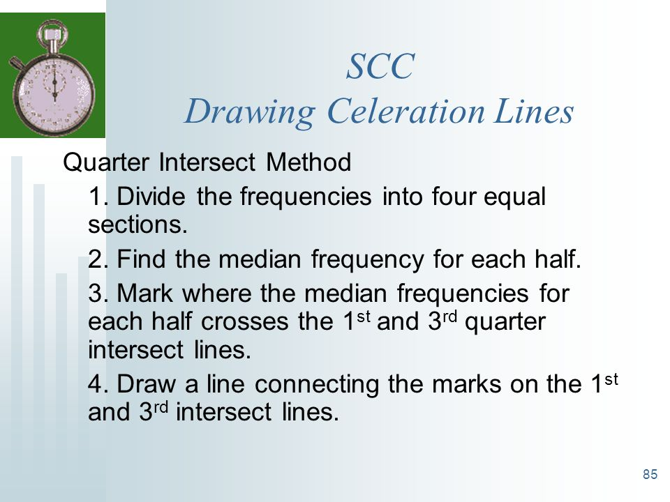 SCC Drawing Celeration Lines