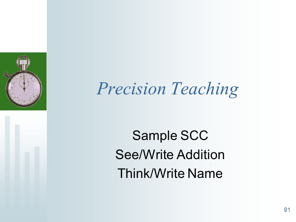 Sample SCC See/Write Addition Think/Write Name
