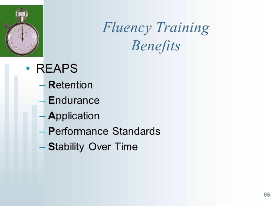 Fluency Training Benefits