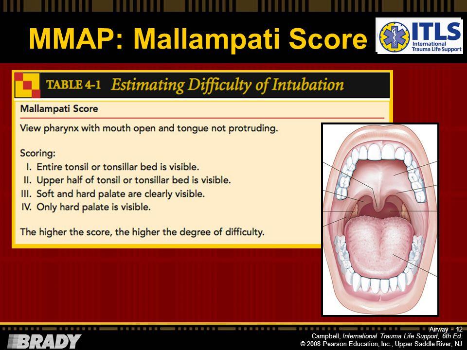 MMAP: Mallampati Score