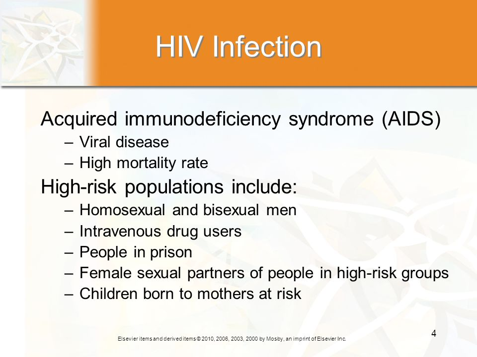 HIV Infection Acquired immunodeficiency syndrome (AIDS)