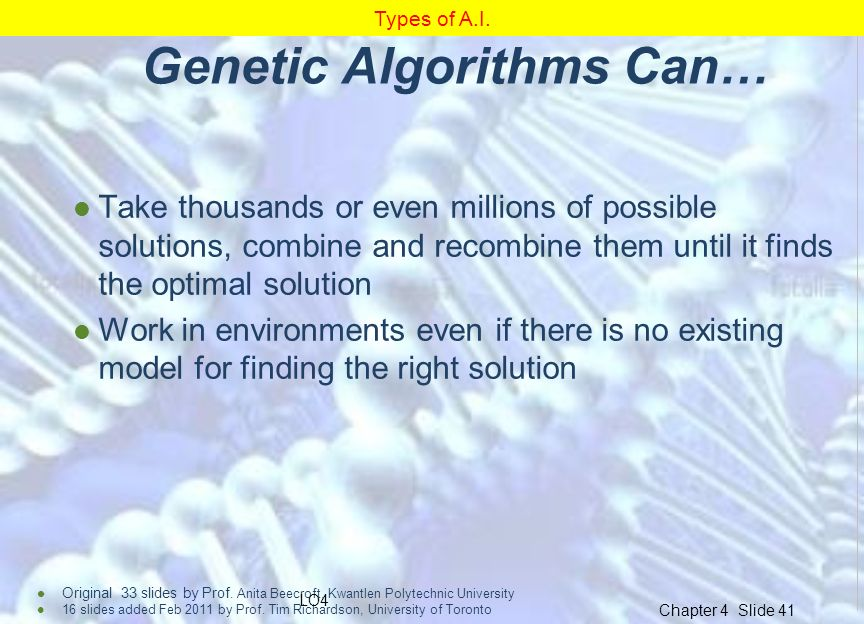 Genetic Algorithms Can…