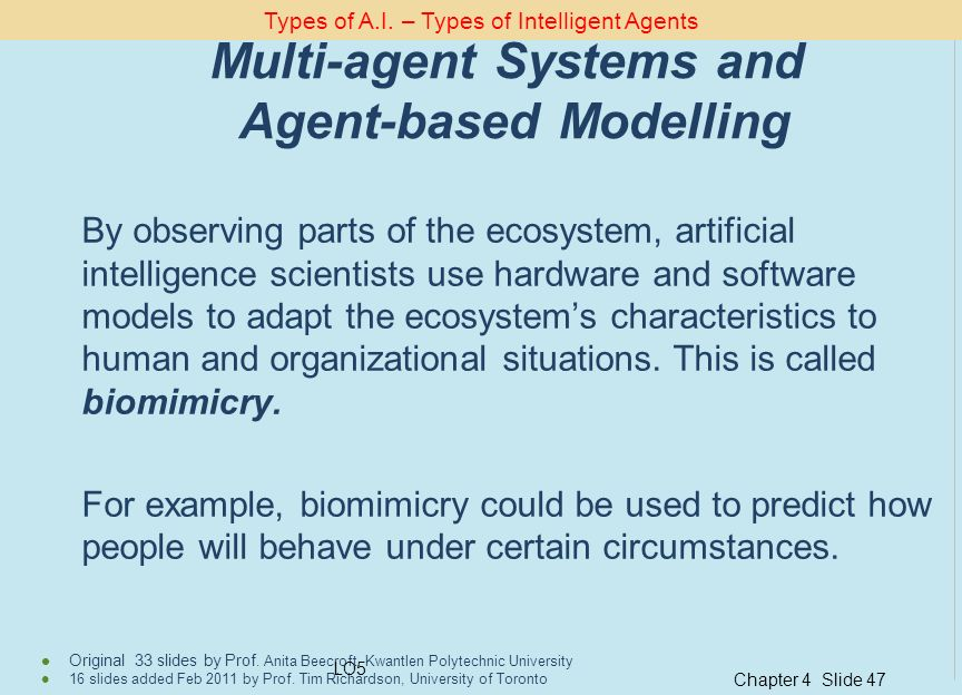 Multi-agent Systems and Agent-based Modelling