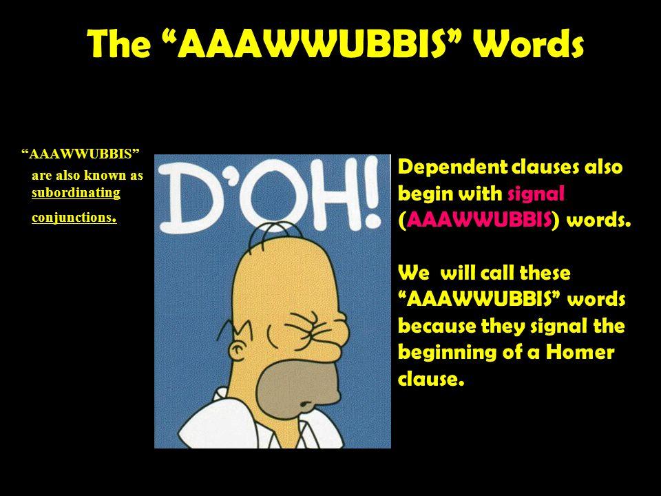 The AAAWWUBBIS Words