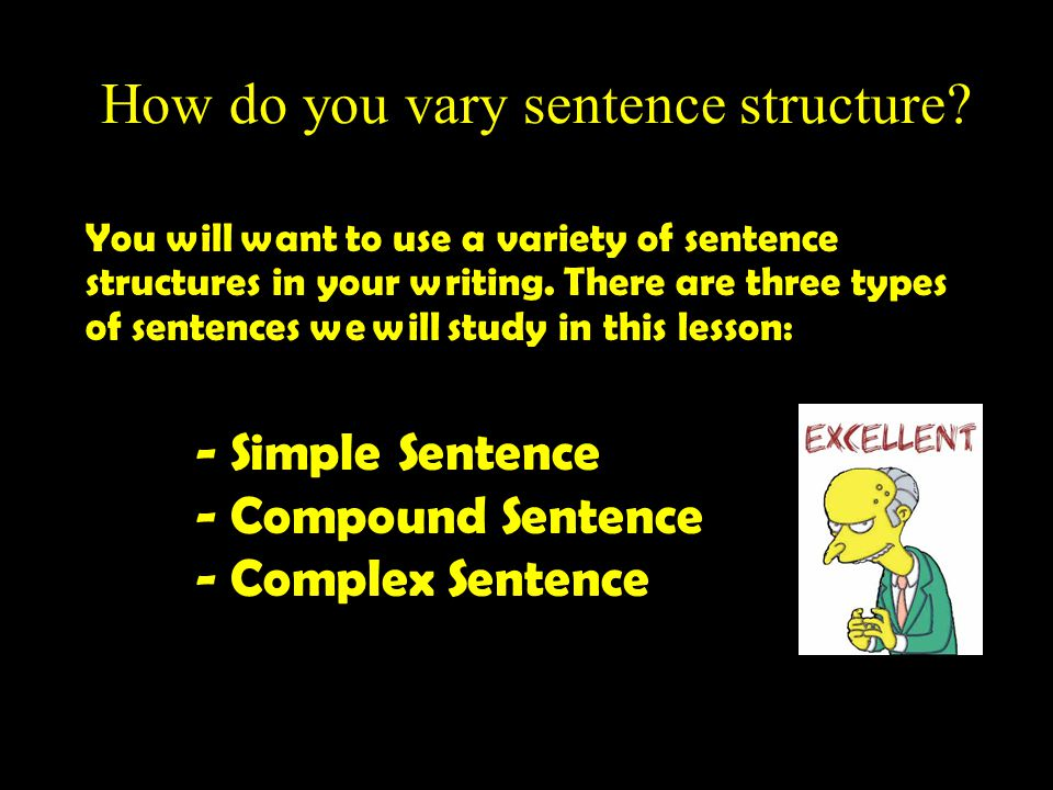How do you vary sentence structure