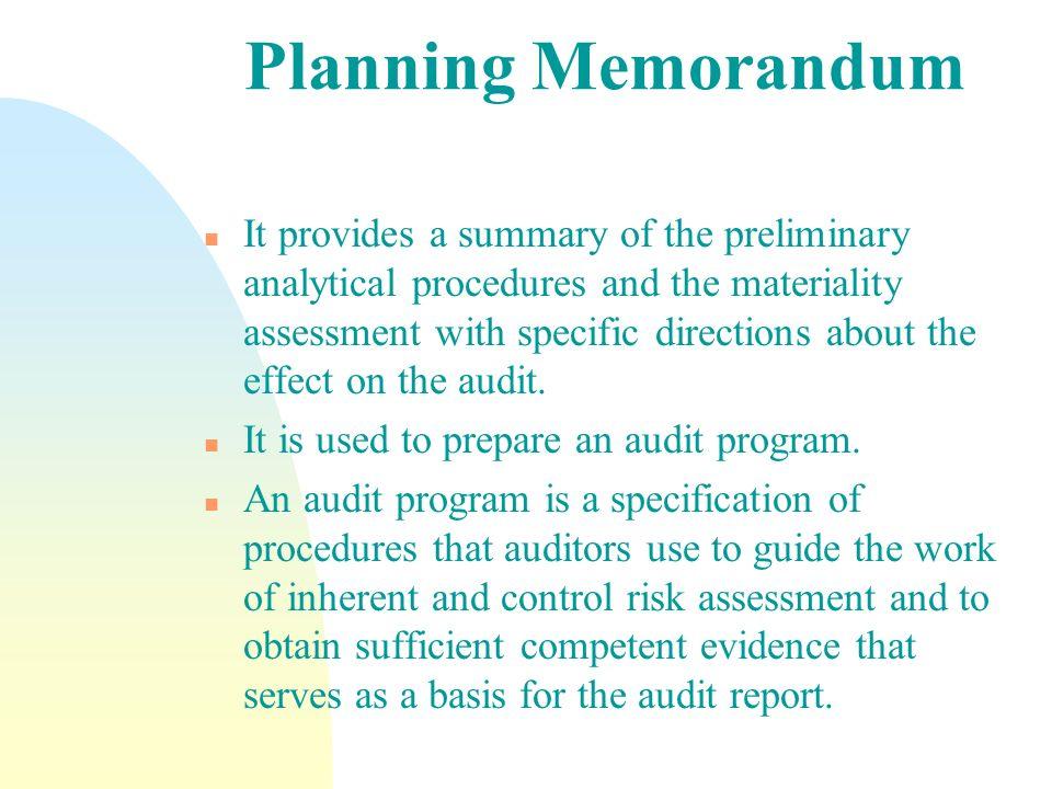 Planning Memorandum