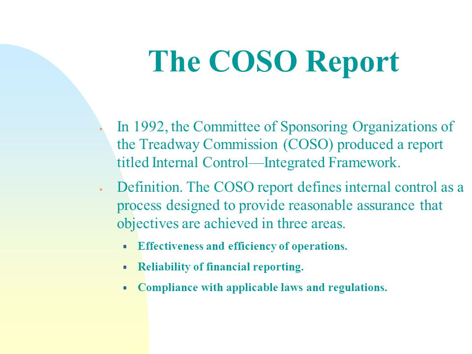 The COSO Report