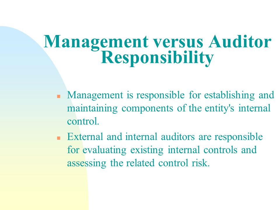 Management versus Auditor Responsibility
