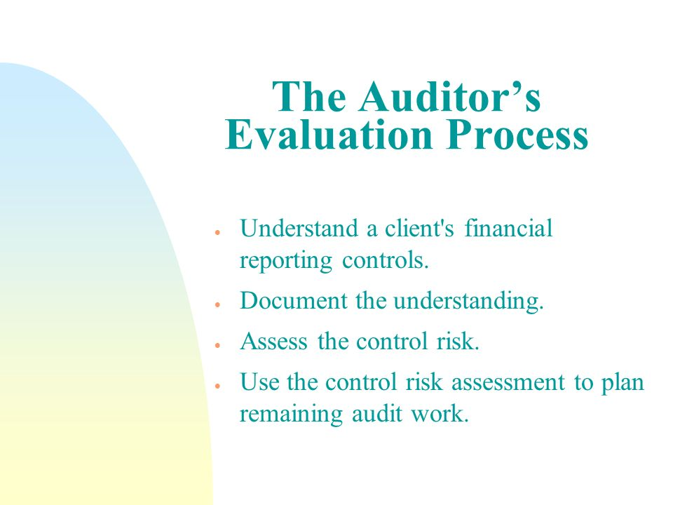The Auditor's Evaluation Process