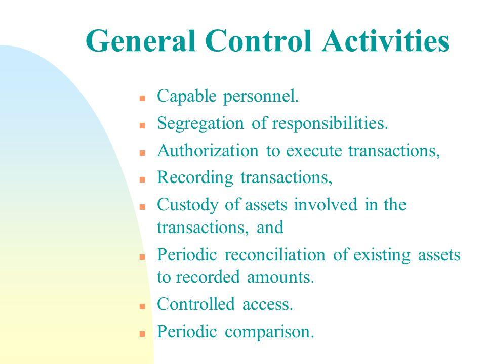 General Control Activities