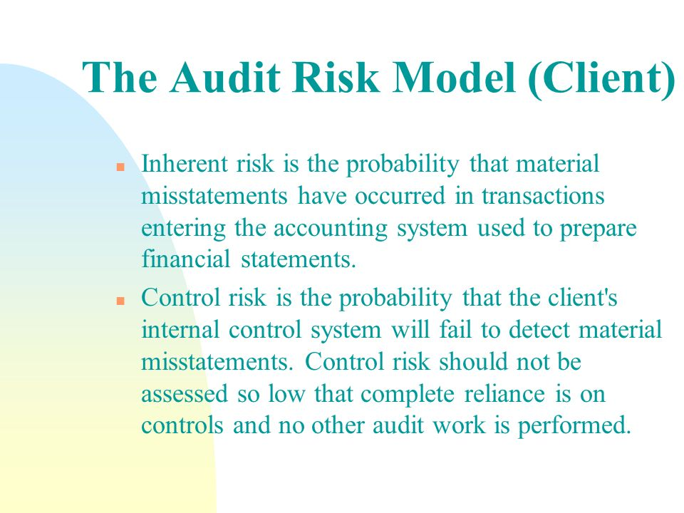The Audit Risk Model (Client)