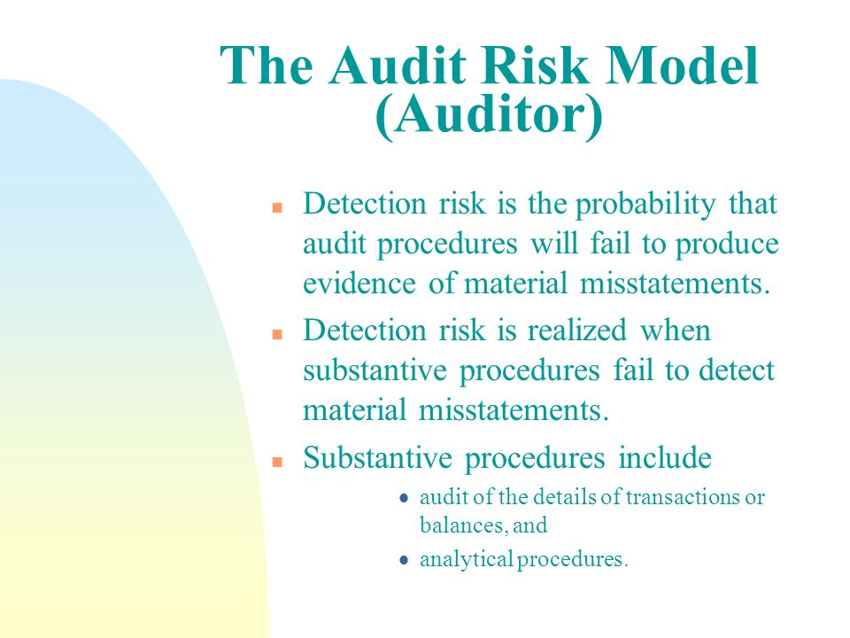 The Audit Risk Model (Auditor)
