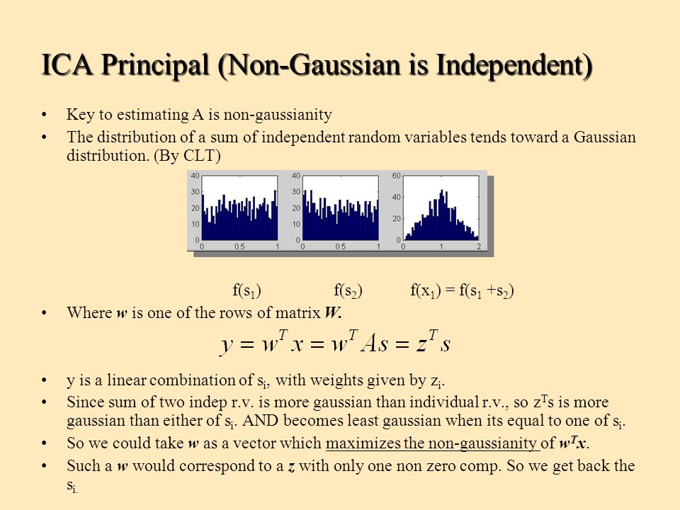 ICA Principal (Non-Gaussian is Independent)