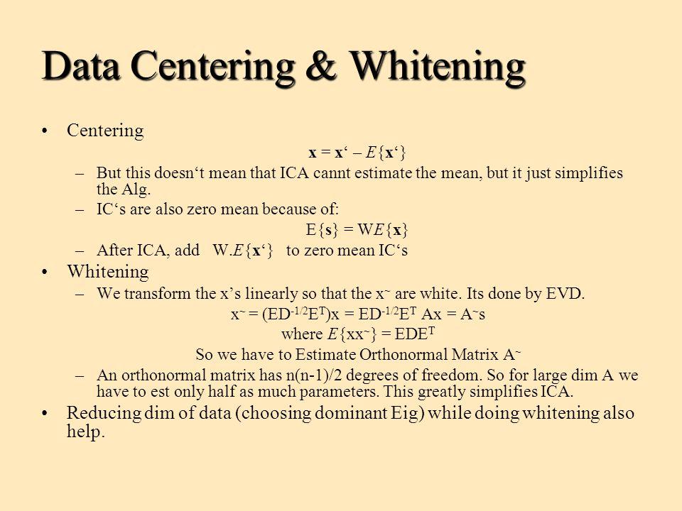 Data Centering & Whitening