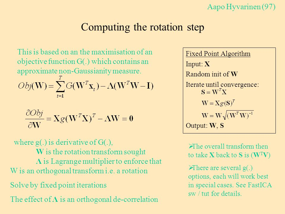 Computing the rotation step