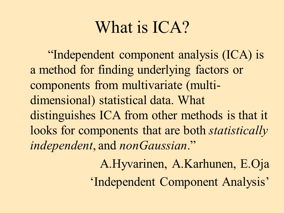 What is ICA