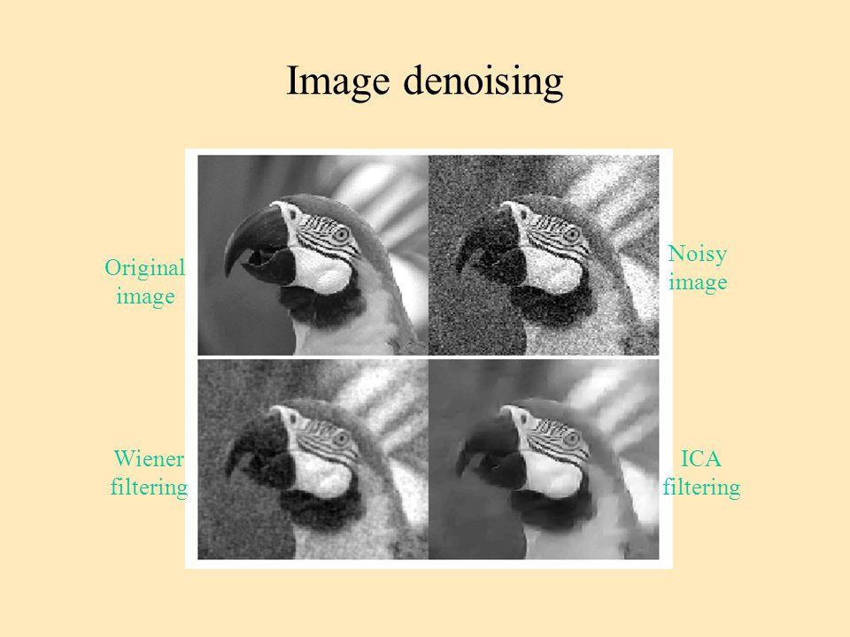 Image denoising Noisy image Original image Wiener filtering