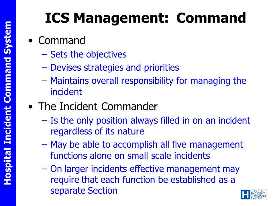 ICS Management: Command