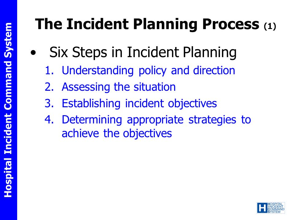 The Incident Planning Process (1)