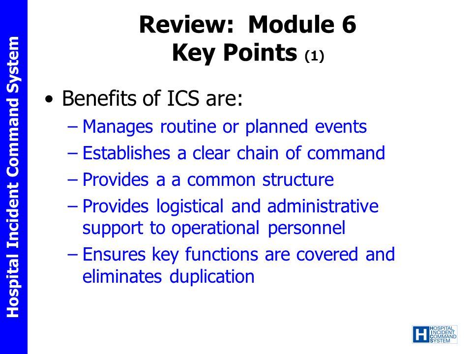 Review: Module 6 Key Points (1)
