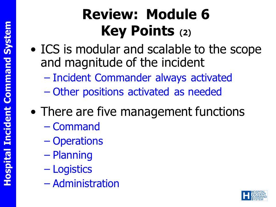 Review: Module 6 Key Points (2)