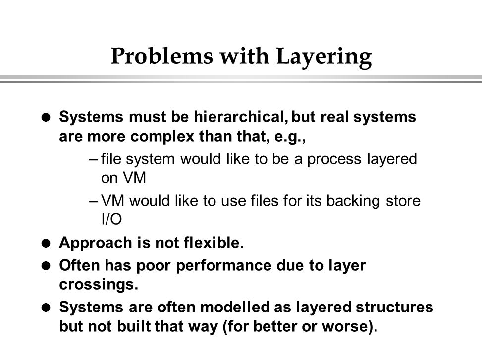 Problems with Layering
