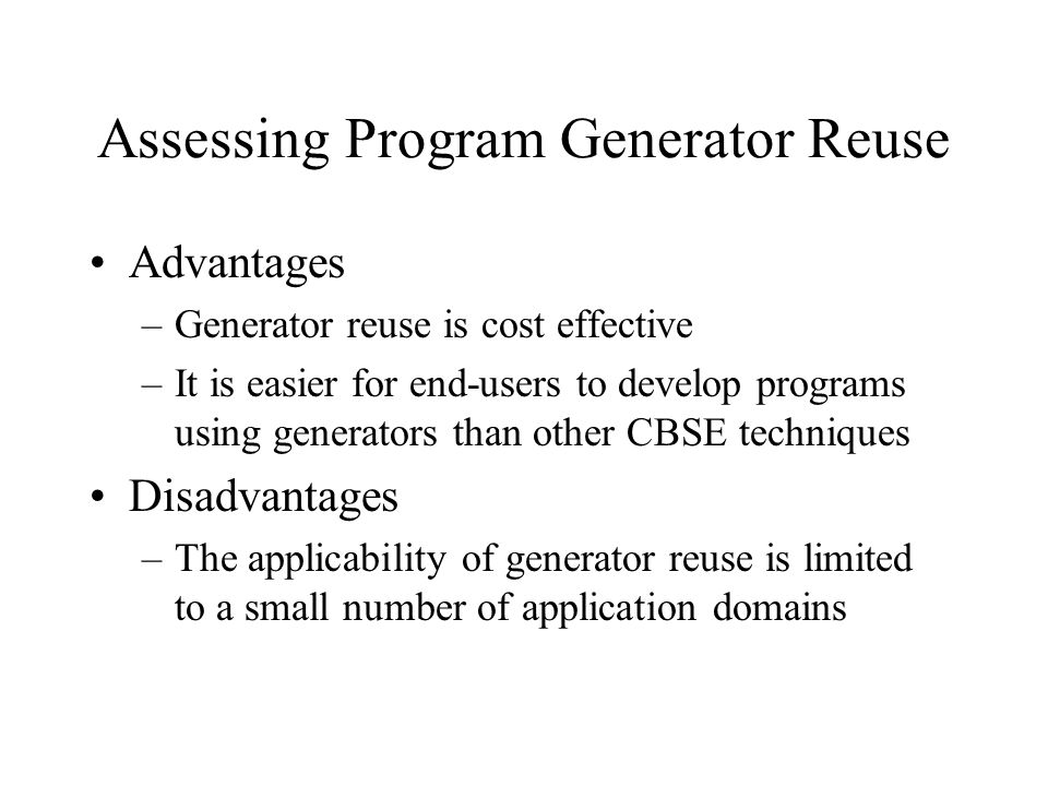 Assessing Program Generator Reuse
