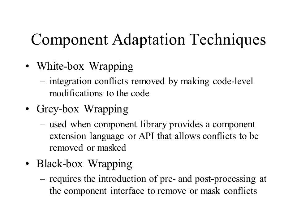 Component Adaptation Techniques
