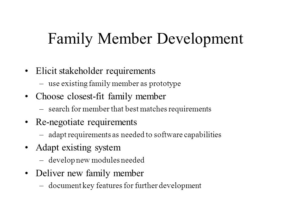 Family Member Development