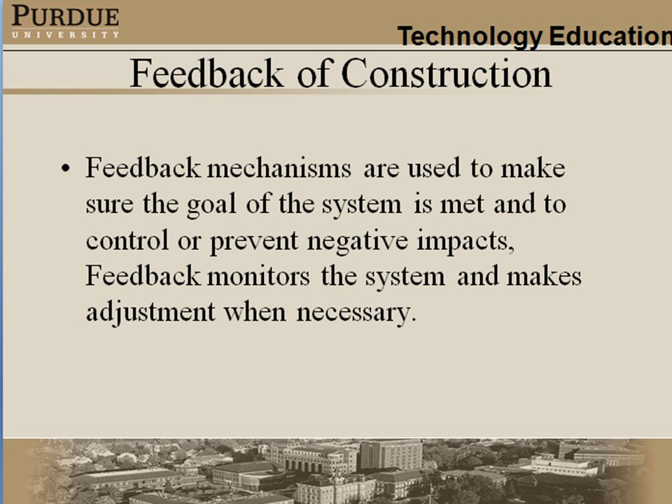 Feedback of Construction